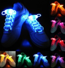 2x LED Glow Shoelaces Disco Flash
