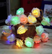 20LED Rose Flower Wedding Christmas Decoration