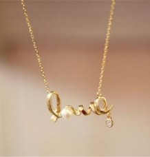 Beautiful LOVE Letter Pendant Chain
