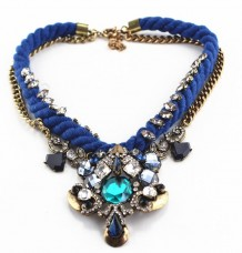 Retro Crystal Chain Choker Necklace