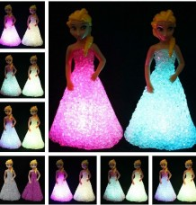 Colorful Elsa  gradient crystal Night Lamp Toy