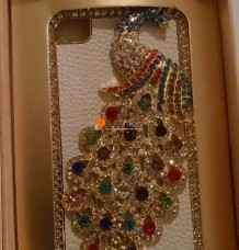 Beautiful iPhone 4s Crystal Peacock Case