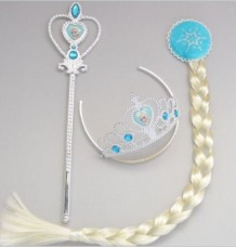 Princess Elsa & Anna set  Crown+Hair Piece+Wand