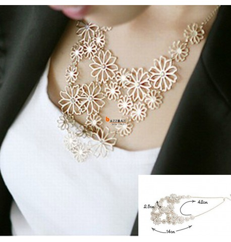 Charming Necklace Hollow Flower Gold Plated