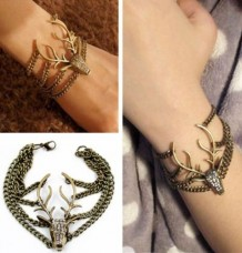 Retro Multilayer Deer Head Vintage style Bracelet