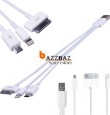 3 in 1 Micro USB Charging Cable for i4 4S 6 Android
