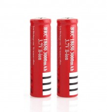 1x or 2x 18650 3000mAh 3.7V Rechargeable Li-ion Battery