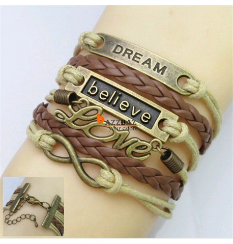 Vintage DREAM Believe Love Bracelet