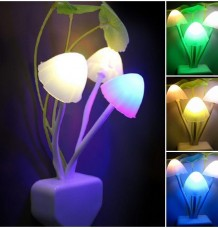 Mushroom LED Night light with Energy Saving Sensor Lamp