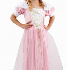 Pink Girls Princess Fancy Dress Costume Age 3
