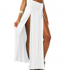 Popular High Double Slits Sexy Lady Long Maxi Beach Skirt