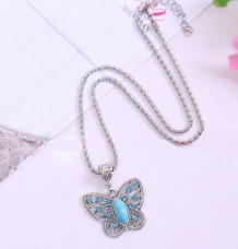 Christmas Tibet silver inlaid natural turquoise girl& women necklace pendant