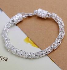 925 Sterling Silver Plated Dragon Head Bracelet