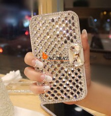 Luxury Full Crystal Rhinestone Diamond Flip Leather Phone Case
