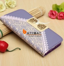 Lace Leather Flip Wallet Card Stand Case for Iphone 6
