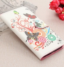 Flowers Flip PU Leather Wallet Card Cover Case Stand For Samsung Galaxy S6 G9200