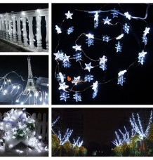 20 White LED Little Star String Lights Battery Christmas